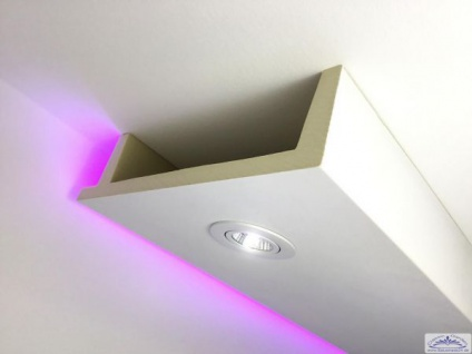 HX-LED-12 Deckenkasten Lichtleiste für LED Spot Beleuchtung aus PU Hartschaum 80x300mm 1Meter