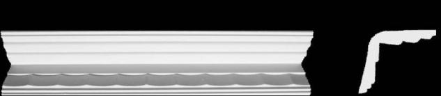 Eckprofil C-8 Gipsstuck 79x83mm Decken Wand Winkel Profil als Stuckleiste 350cm
