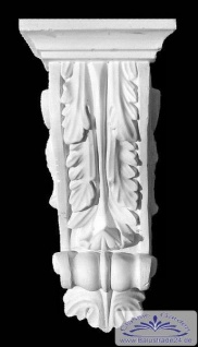 ED-26 Stuckkonsole Gips Zierstuck Konsole mit Akanthusblatt Dekor Stuck 31cm