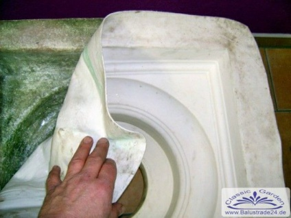 Silikon Formenbau SR450 Sockel und Kapitell dorischer Stil für Säule Gießform als Negativform für Beton giessen