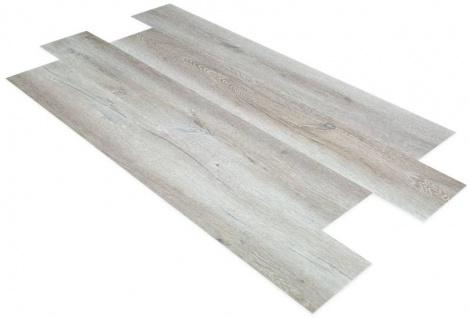 SPC Vinylboden PS25 Bodenbelag auf Vinyl Basis mit 4F Klick System 23x122cm Farbe Sandeiche-grau 2, 78QM