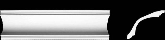 Eckprofil C-4 Gipsstuck 92x117mm Stuckleiste Reziso Gips Stuck Profil 350cm