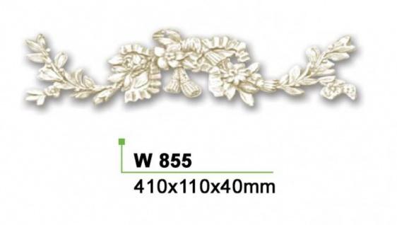 HX-W855 Wand und Decken Zierstuck Element als Innenstuck Zierelement aus PU Hartschaum 110x410mm 1 Stück - Vorschau 2