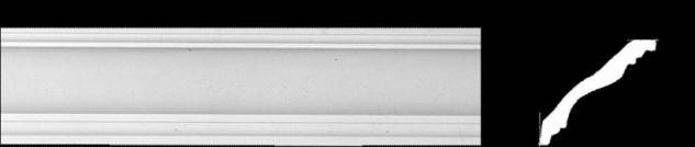 Eckprofil CE-913 Gipsstuck 85x95mm Decken Stuckleisten aus Gips Stuck 350cm