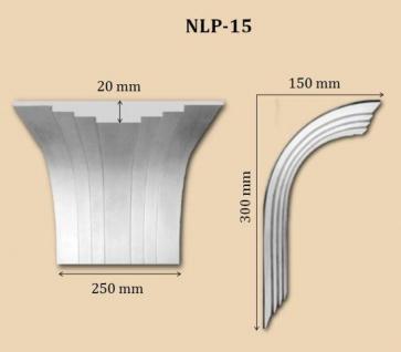 NLP-15 Bogenprofil ohne Ausschnitt zum flachen Gipsstuck LP-5 Stufenprofil 250x20mm 1Stück