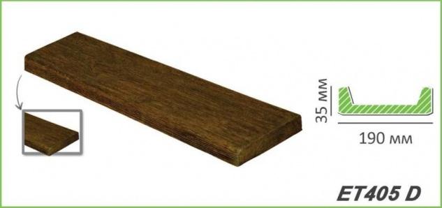 HX-ET405D Brett als Decken- und Wandbrett mit Holzimitat aus leichtem Polyurethan Hartschaum als rustikale Innendekoration 190x35mm Preis je Stück - Vorschau 2