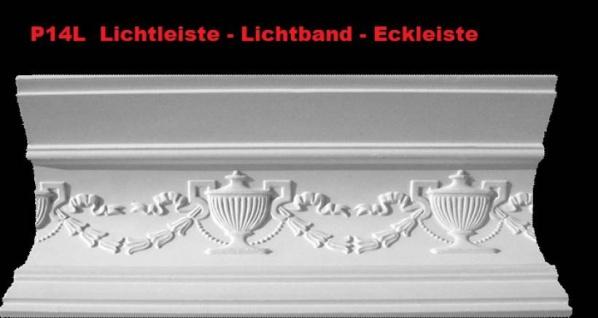 Lichtleiste Eckprofil P-14L Gipsstuck Profil 120x150mm Stuckleiste Gips Stuck Lichtband Eckleiste 350cm
