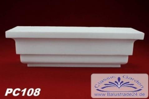 PC108 Pilaster Kapitell small für Pilastersäulen Breite 305mm Styropor Fassadenstuck