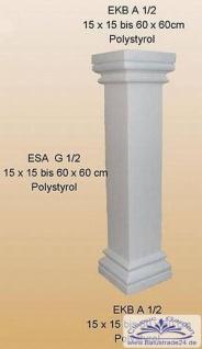 styropor s ule 3meter esa g 60cm eckige glatte halbschalen. Black Bedroom Furniture Sets. Home Design Ideas