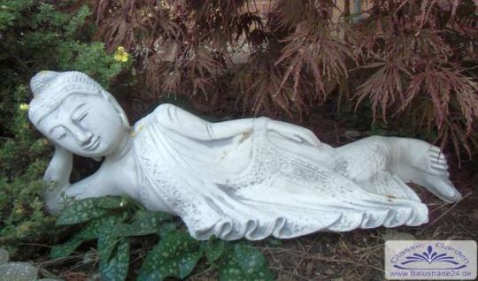 SRS101069 Gartenfigur Liegender Buddha 75cm lang 20kg
