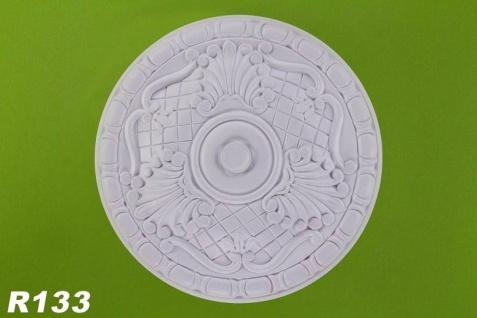 R133 Deckenrosette aus Polyurethan Hartschaum mit weißer Oberfläche 40cm