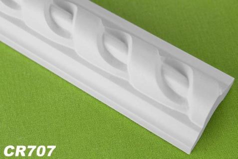 CR707 Flache Leiste mit Musterung für Wand und Decken Innenstuck 41x23mm Profil 200cm