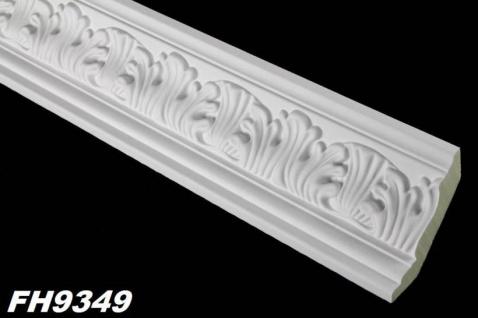 HX-FH9349 Eckleiste Decken Eckprofil mit Dekor als Innenstuck Leiste aus PU Hartschaum 65x62mm 1Meter