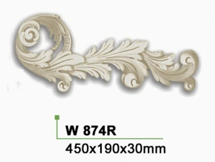 HX-W874R Wand und Decken Zierstuck Element als Innenstuck Zierelement aus PU Hartschaum 190x450mm 1 Stück - Vorschau 2