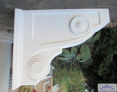 BI-BK2 Balkonwinkel Konsolen Verkleidung aus Styropor für Balkon als Fassadenstuck Bauelement