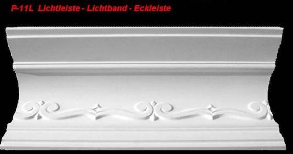 Lichtleiste Eckprofil P-11L Gipsstuck Profil 120x150mm Stuckleiste Gips Stuck Lichtband Eckleiste 1Meter