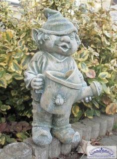 SO-10239 Gartenzwerg mit Gießkanne in der Hand Wichtel Gartenfigur 41cm - Vorschau 2