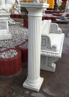 KP-0415 Hohe Gartendeko Säule kanneliert für Garten und Innenbereich auch Beton 113cm 66kg - Vorschau 2