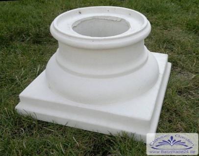 BI-S102 Basis Sockel Kapitell 42x42cm für Säule Betonsäule bis 28cm Durchmesser