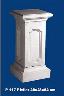 P117 Zaunpfeiler Torpfeiler Balustradenpfeiler zur Balustrade Sockel Postament für Gartenfiguren
