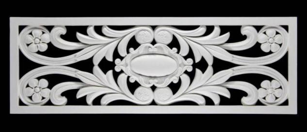 HX-FR8332 Universelles Wand und Decken Zierstuck Gitter Element als Innenstuck Zierelement aus PU Hartschaum 1056x360mm 1 Stück