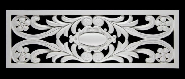 HX-FR8332A Universelles Wand und Decken Zierstuck Gitter Element als Innenstuck Zierelement aus PU Hartschaum 1056x360mm 1 Stück