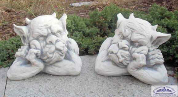 SR024 025 Gargoyl Gesichter als Mauerhocker Gartdendeko Torwächter Figuren - Vorschau 5