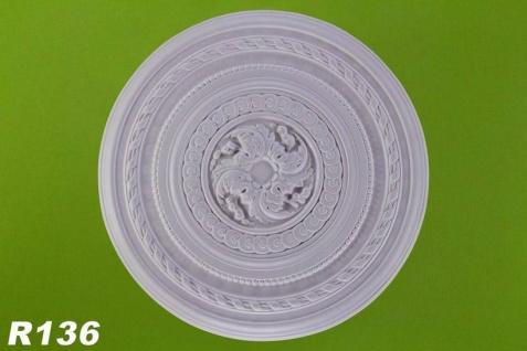 R136 Deckenrosette aus Polyurethan Hartschaum mit weißer Oberfläche 67cm