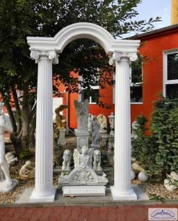 Säulenportal mit Bogen Säulen kanneliert 30cm Gesamthöhe Bogenportal aus Beton 300cm
