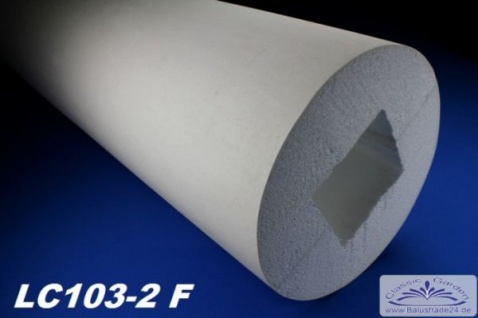 LC103-2F Säule glatt mit 405mm Durchmesser 200cm Styroporsäule Full für Haus Garten Eingang Verkleidung