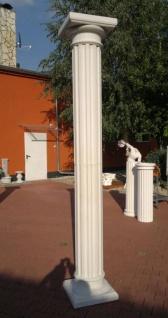 BD-A001 Säule kanneliert 30cm komplette Betonsäule mit Sockel und dorischem Kapitell 295cm