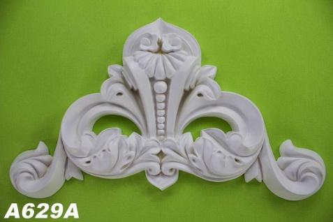 HX-A629A Universelles Wand und Decken Zierstuck Ornament als Innenstuck Stuckdekor Ornament Zierelement aus PU Hartschaum 225x420mm 1 Stück