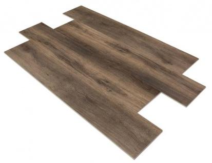 SPC Vinylboden PS17 Bodenbelag auf Vinyl Basis mit 4F Klick System 23x122cm Farbe Rauchbraun 2, 78QM