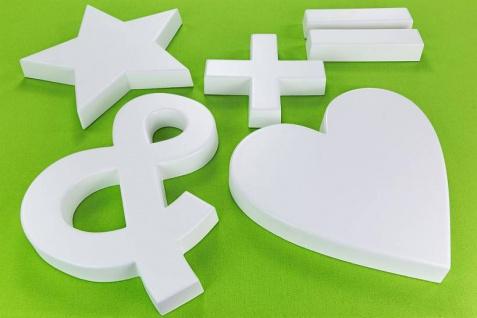 Sonderzeichen zum Sortiment der Buchstaben Alphabet ABC für Schriftzüge oder als Wanddekor für den Innen und Außenbereich