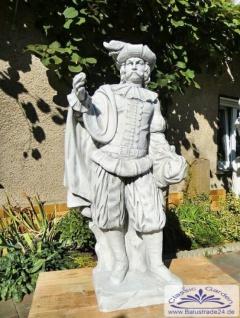 SRS101024 Gartenfigur Edelmann Skulptur Statue Figur Burgherr Parkfigur 141cm 242kg - Vorschau 4