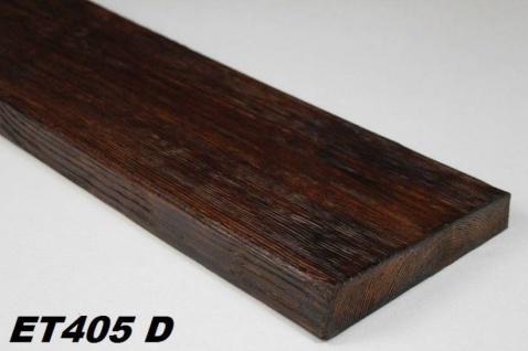 HX-ET405D Brett als Decken- und Wandbrett mit Holzimitat aus leichtem Polyurethan Hartschaum als rustikale Innendekoration 190x35mm Preis je Stück