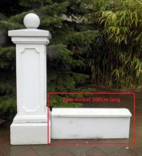 Beton Zaunsockel als Zaun Fusslauf für Schmiedeeisen Zaun als Beton U-Element mit Abdeckung 100cm