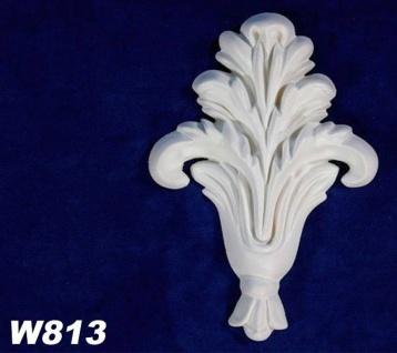 HX-W813 Wand und Decken Zierstuck Dekorelement als Innenstuck Zierelement PU Hartschaum 120x80mm 1 Stück