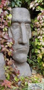 BD-10132 Moai Skulptur Osterinsel Gesicht als Gartenfigur Rapa Nui Steinfigur 100cm 104kg