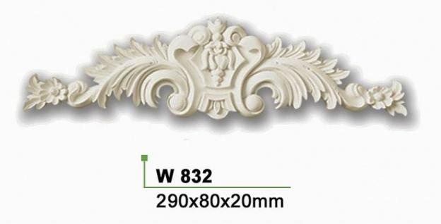 HX-W832 Wand und Decken Zierstuck Innenstuck Stuckdekor Ornament Zierelement PU Hartschaum 80x290mm 1 Stück - Vorschau 2