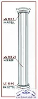 LC103-21H Halbsäule kanneliert mit 405mm Durchmesser 200cm Halbschalen Styroporsäule für Haus Garten Eingang Verkleidung - Vorschau 4