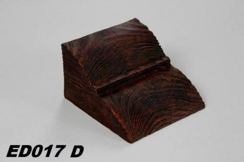 HX-ED017D Konsole für Deckenbalken aus leichtem Polyurethan Hartschaum als rustikale Innendekoration 60x90x110mm Preis je Stück