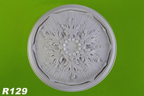 R129 Deckenrosette aus Polyurethan Hartschaum Akanthusdekoration mit glatter weißer Oberfläche 52cm