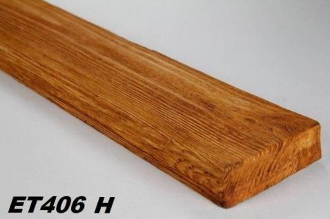 HX-ET406H Brett als Decken- und Wandbrett mit Holzimitat aus leichtem Polyurethan Hartschaum als rustikale Innendekoration 120x35mm Preis je Stück