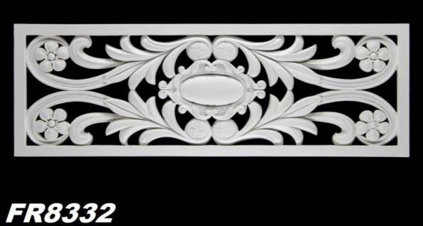 HX-FR8332 Universelles Wand und Decken Zierstuck Gitter Element als Innenstuck Zierelement aus PU Hartschaum 1056x360mm 1 Stück - Vorschau 2