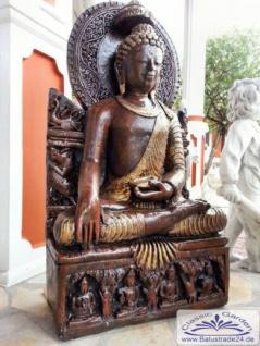 BD-3115 sitzender Buddha XXL Buddhafigur für asiatische Garten Deko 94cm 128kg - Vorschau 4