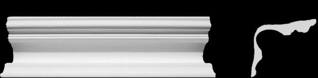 Eckprofil C-2 Reziso Gipsstuck 100x135mm Stuckleiste Gips Stuck Hohlkehlen Profil 350cm