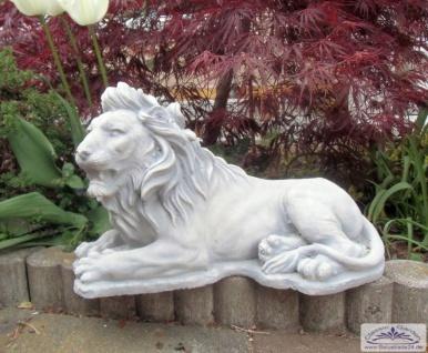 SA-N926 Gartenfigur kleiner Löwe liegend Gartendeko Löwenfigur 25cm 13kg