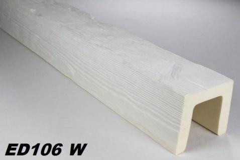 HX-ED106W Deckenbalken aus leichtem Polyurethan Hartschaum als rustikale Innendekoration 120x120mm Preis je Stück