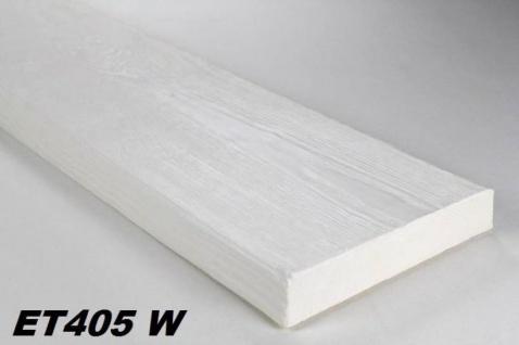HX-ET405W Brett als Decken- und Wandbrett mit Holzimitat aus leichtem Polyurethan Hartschaum als rustikale Innendekoration 190x35mm Preis je Stück